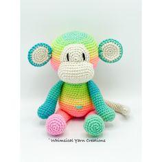 Crochet Round, Half Double Crochet, Double Knitting, Crochet Monkey Pattern, Crochet Whale, Knitting Yarn, Knitting Patterns, Crochet Patterns, Magic Ring Crochet