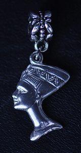 nefertiti egyptian egypt sterling silver jewelry bead