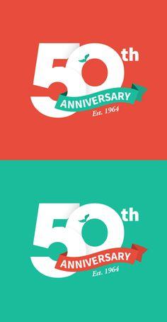 50th Anniversary Logo by Jay Yeater, via Behance