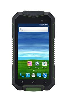 Futuretech® V77 Waterproof Dustproof Shakeproof unlocked Smartphone 4.5 IPS Screen Rugged Android 5.1 Qual Core, 512MB RAM 8GB ROM; GPS AGPS Outdoor Hiking Traveling Dual SIM GSM WCDMA (Green)