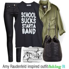 Amy Raudenfeld inspired outfit/Faking it School Looks, Super Skinny Jeans, Utility Jacket, Amy, Converse, Cute Outfits, Allison Argent, Fashion Looks, Inspired