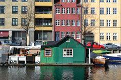 Cabin boat in Copenhagen, Denmark.