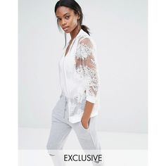 Missguided Exclusive Embroidered Mesh Bomber Jacket ($60) ❤ liked on Polyvore featuring outerwear, jackets, cream, mesh bomber jacket, fitted jacket, embroidered jacket, zip pocket jacket and zipper jacket