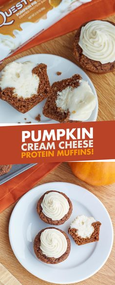 FALL in love with these Pumpkin Cream Cheese Protein Muffins!