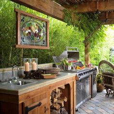 offene küche ideen terrassenüberdachung holz Though early throughout concept, the particular pergola is encountering somewhat Outdoor Rooms, Outdoor Living, Outdoor Ideas, Outdoor Decor, Pergola Ideas, Outdoor Patios, Outdoor Fire, Outdoor Gardens, Ideas Terraza