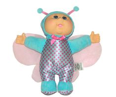 She is blue and pink with sparkle pink wings. This is such a cute little with a rubber head and cloth body. Child Doll, Girl Dolls, Baby Dolls, Ty Toys, Preemie Clothes, Pound Puppies, Cabbage Patch Kids Dolls, African American Girl, Butterfly Baby