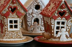 Hand made gingerbread houses, check out our facebook page: https://www.facebook.com/ginger.red.393