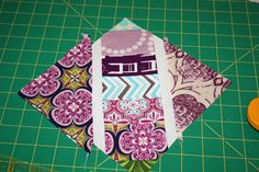 This is a great description for how to make this block. Easy and can be trimmed to size after it's assembled.