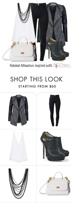 """""""Rebekah Mikaelson inspired outfit/The Originals"""" by tvdsarahmichele ❤ liked on Polyvore featuring ONLY, J Brand, Cushnie Et Ochs, Fendi, DANNIJO and Dolce&Gabbana"""