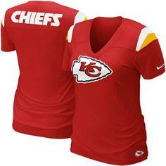 Nike Kansas City Chiefs Women's Fashion Football Premium T-Shirt - Red