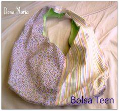 Bolsa Teen Verde/Lilás