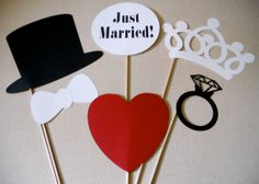 Just Married Photo Props  Just Married Photo by ThePropMarket, $18.00