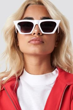 bfa3b84a4 Sharp Square Cateye Sunglasses NA-KD.COM Spot Popping, Pop Fashion,  Sunglasses