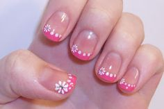 Pink French with Flowers!