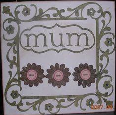 cricut mum birthday card