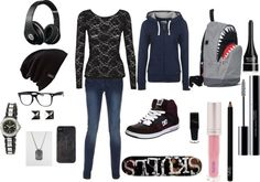 """Skater Girl"" by roseleana on Polyvore"