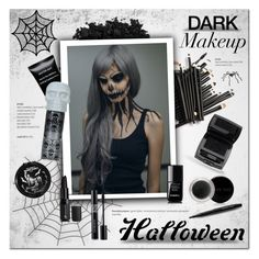 Boo! Bold Halloween Makeup by cruzeirodotejo on Polyvore featuring beauty, Lancôme, Mary Kay, Urban Decay, Givenchy, Christian Dior, Chanel, Heritage Lace, beautyset and halloweenmakeup