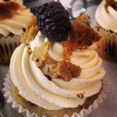 Blackberry Cobbler Cupcake at Little Sweet Cakes in Point Pleasant Beach NJ #cupcake #cupcakes #little #Sweet #cakes