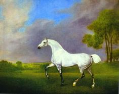 Paintings Reproductions Stubbs  George A Grey Horse, 1793    Nicholas's noble steed Hannibal, perhaps?   HOW TO DECEIVE A DUKE by Lecia Cornwall 27/11/12
