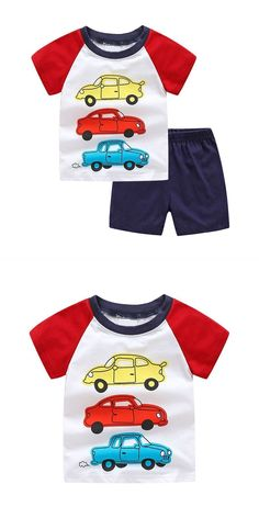 Pant Set Infant Baby Boys Winter Warm Clothes Set Cartoon Rocket Car Dinosaur Print Top Shirt Blouse