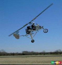 Flying Motorcycle-- good way to get around rush hour traffic!