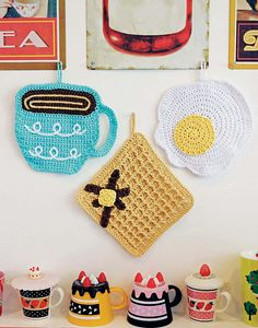 breakfast crochet dishcloths by twinkie chan