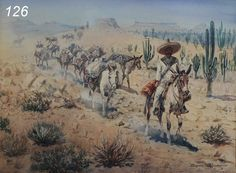 Edward Borein watercolor Pancho Villa and his men sold $23,000 www.fairfieldauction.com