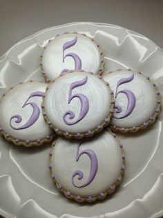 Sofia the First coordinating cookies