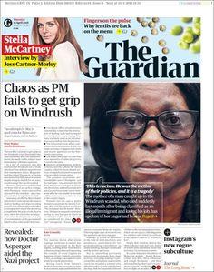 Portada de The Guardian (Reino Unido) Web Design Company, The Guardian, Content Marketing, Newspaper, Fails, Interview, How To Get, Blog, Travelling