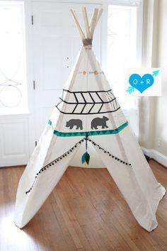 Diy Teepee, Teepee Party, Teepee Kids, Teepee Tent, Boys Room Decor, Kids Decor, Kids Room, Cool Tents, Fashion Room