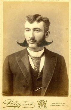 Facial hair fly-away.  Sideburn wings, 19th Century.  #BigHairWeek