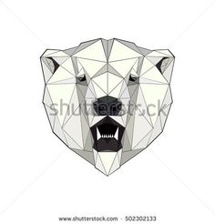 illustration of a polar bear in a triangular style