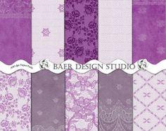 Sale-Purple LACE Digital Paper-purple printable paper-Wedding Invitation Paper, Purple Lace Digital Stationery, Papeles Digital