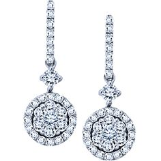 Ben Moss Jewellers Endless Love 0.50 Carat TW, 10k White Gold Diamond Earrings