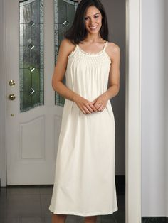 87002353ae Abigail - Luxury Nightwear - Schweitzer Linen. This is elegance defined.  Hand-smocked ...