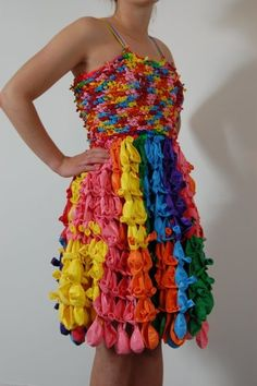 Balloon Dress! #recyclinglessons