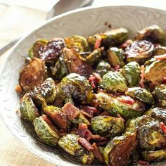 Balsamic & Maple Glazed Brussel Sprouts with Bacon