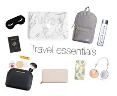 """""""Travel essentials"""" by fashionkid-1 on Polyvore featuring Herschel Supply Co., Frends, Rimmel, Royce Leather, Burt's Bees, Sonix, MICHAEL Michael Kors and Kate Spade"""
