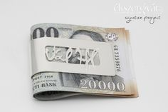 Signature Project - sterling silver money clip / ezüst aláírás pénzcsipesz (14)
