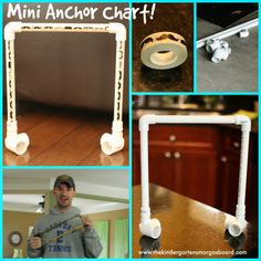 Constructing a mini anchor chart stand for your guided reading table!
