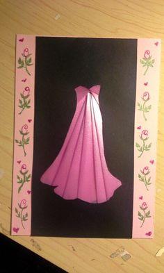 Iris folded pink dress