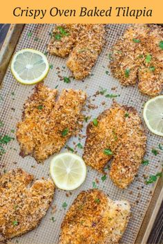Crispy Oven Baked Tilapia soaked in buttermilk and covered with bread crumbs, is a suitable dinner option for busy weeknights. The fish is cooked in approximately 15 mins, and it has a clean and delicious taste.