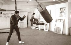 Fifth Street Gym, Miami Beach, 1977. This was where Ali began his boxing career after winning gold at the Olympics in 1960. It was gritty, basic, and home to boxing manager Angelo Dundee and boxing great Sugar Ray Leonard.