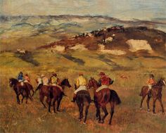 Racehorses, 1884  Edgar Degas