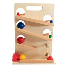 BIG Kids wooden zig zag Ball,PLUS FREE GIFT !! drop and slide,wooden toy