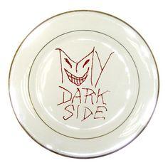 My Dark Side Typographic Design Porcelain Display Plate Porcelain Plate