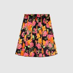 Acid Bloom pleated skirt