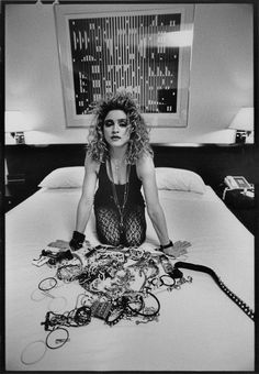 Madonna and her 80s jewelry stash. Chunky belts, crucifixes, and rubber bracelets galore.