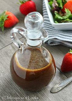 Maple Balsamic Vinaigrette {Low-FODMAP}  /  Delicious as it Looks