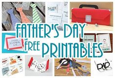 DIY Father's Day Cards {The Best FREE Printable Paper Crafts just for DAD!} – Dreaming in DIY